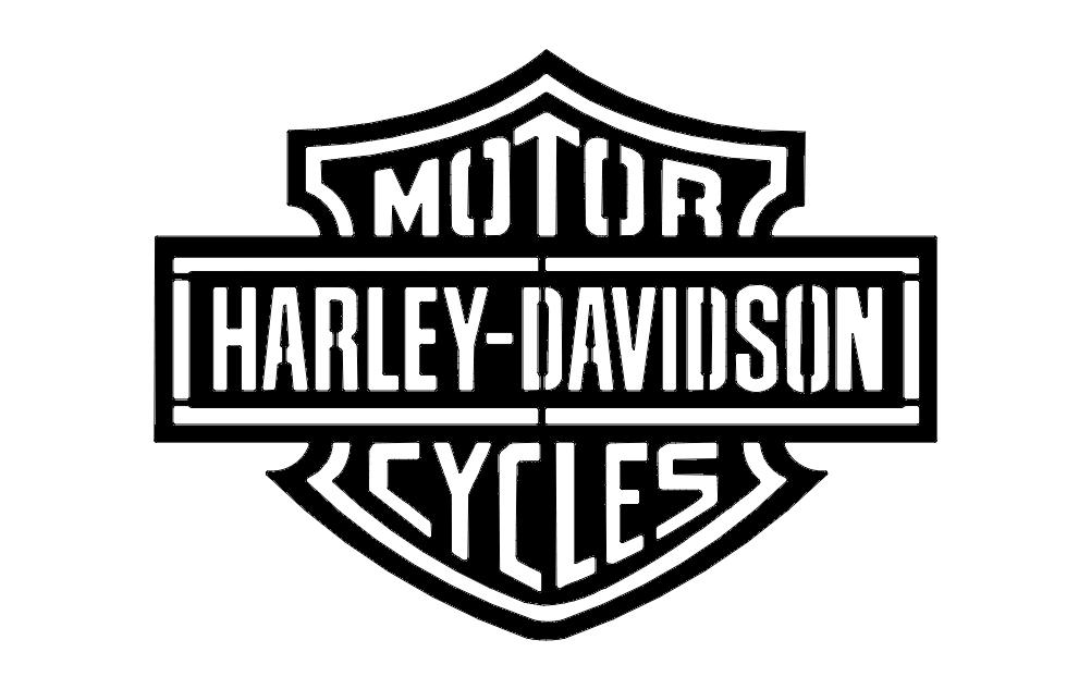 Harley D Logo dxf File