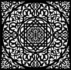 Black White Background Swirly Ornament Seamless EPS File