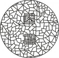 Ancient 2d jali design Free Vector