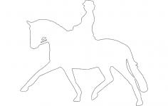 Jockey Horse Walking DXF File