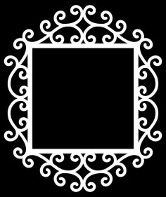 Swirly Frame 3 By Bird dxf File