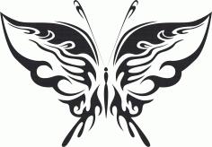 Tribal Butterfly Vector Art 19 DXF File