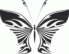 Butterfly Vector Art Illustration DXF File