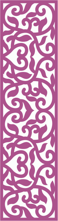 Laser Cut Vector Panel Seamless 177 CDR File