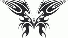 Tribal Butterfly Vector Art 49 DXF File