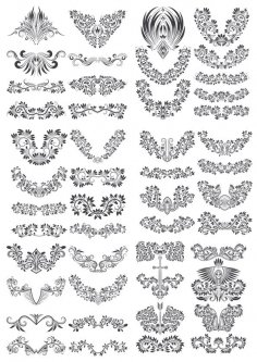 Floral Decor Vector Set