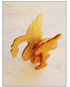 Bird Laser Cut 3D Puzzle PDF File