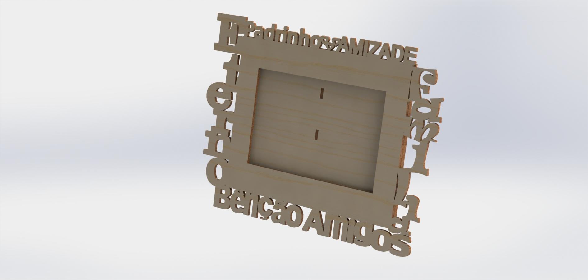 Frame Laser Cut DXF File