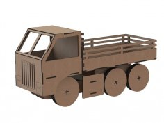 Truck Toy Laser Cut Free Vector