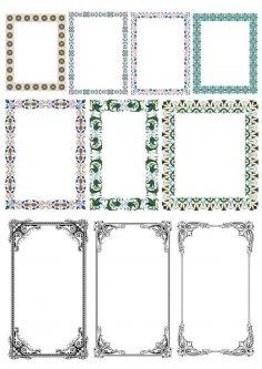 Elegant Decorative Frame Borders
