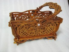 Basket Scroll Saw Pattern PDF File