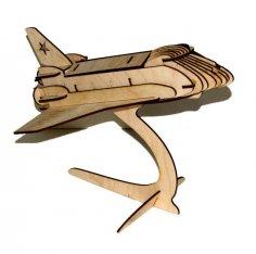 Shuttle 3D Puzzle Free Vector