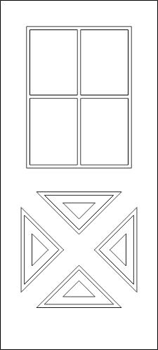 Modern Door DWG File
