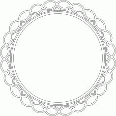 Circular Mirror Frame DXF File