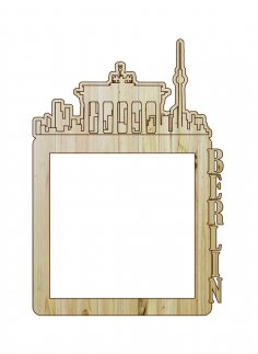 Laser Cut Photo Frame Berlin DXF File