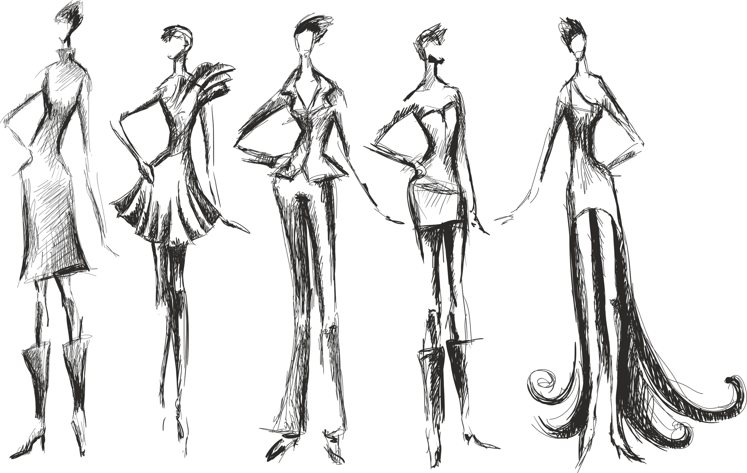 Fashion Silhouettes Free Vector