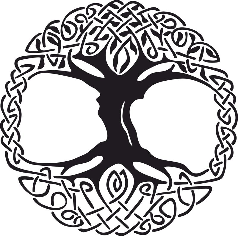 Celtic Tree of Life Vinyl Window Sticker vector Free Vector