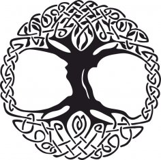 Celtic Tree of Life Vinyl Window Sticker vector CDR File