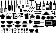 Kitchen Silhouette Vector Set CDR File