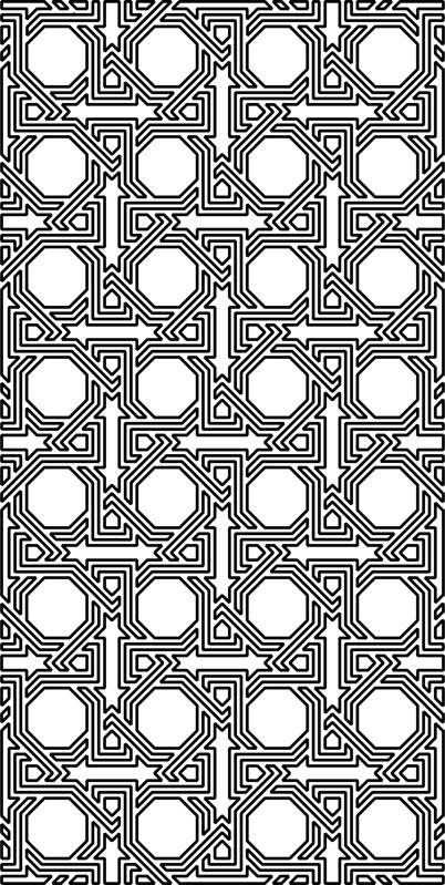 Arabesque Pattern dxf File