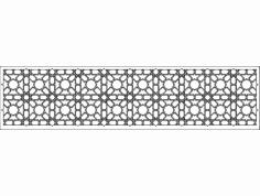 Grille Patterns spr10x2 dxf File