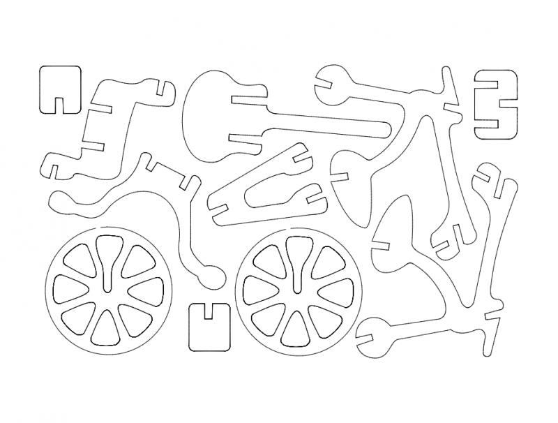 Bicicleta (Bicycle) dxf File
