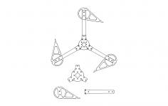 Vertical Wind Turbine dxf File