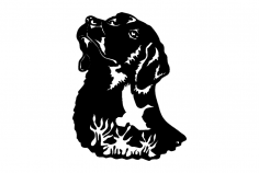 Dog Bird dxf File