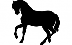 Dancing Horse Silhouette Vector dxf File