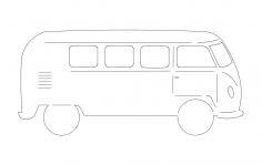 Volkswagen Bus dxf File