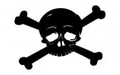 Skull Cross Bones dxf File