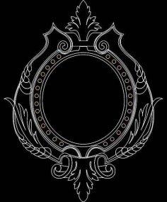 Mirror Frame 0550 dxf File