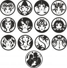 Zodiac vector dxf File