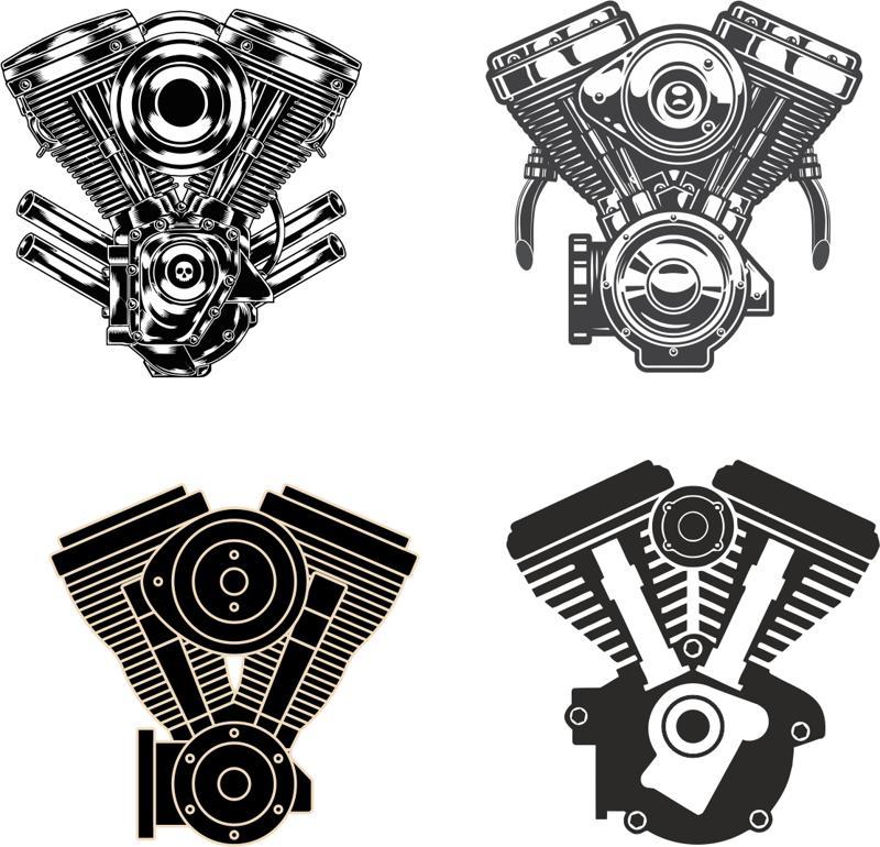 Motorcycle Engine vectors