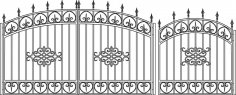 Forged Gates Sketch Vector CDR File