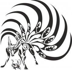 Naruto Kyubi Vector Art Free Vector