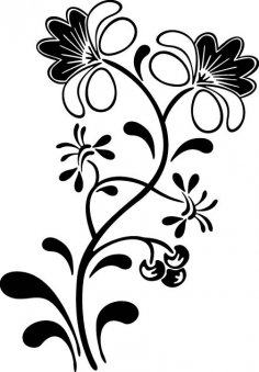 Flowers And Vines Car Window Decals Vector Free Vector