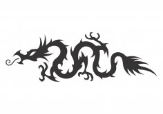 Medieval Hollow Tribal Dragon Tattoo Vector CDR File