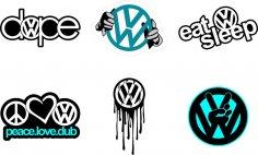 Volkswagen Logo Vectors CDR File
