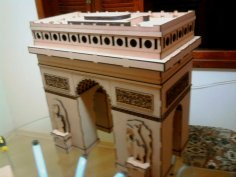 Laser Cut Arc De Triumph 3D Wooden Puzzle Model Kit Free Vector