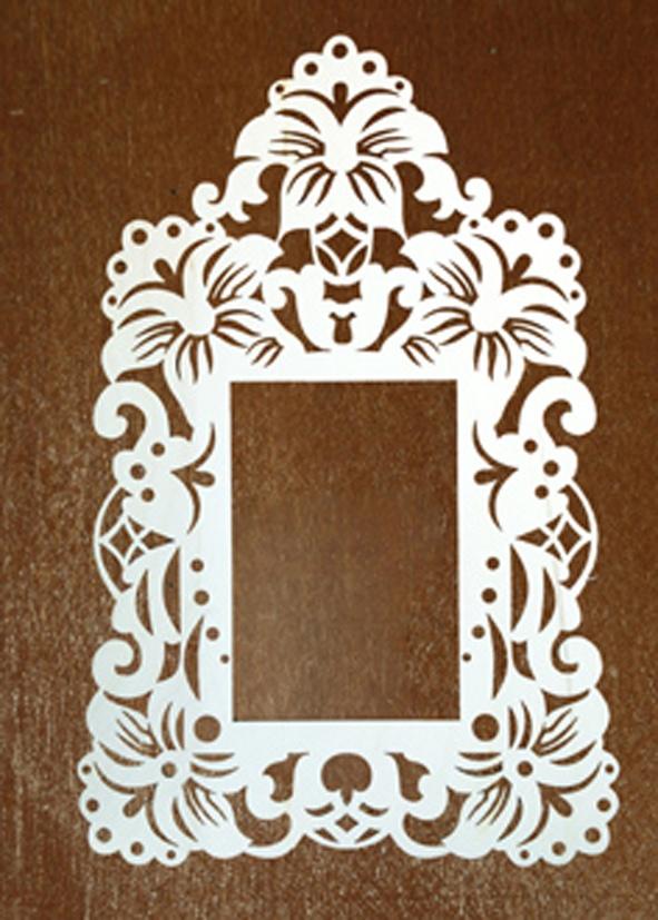 Laser Cut Decoration Frame Free Vector
