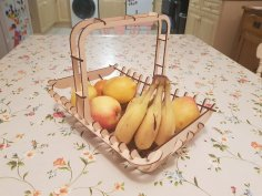 Laser Cut Fruit Basket 3mm DXF File