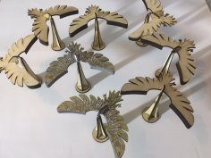 Laser Cut Wooden Balance Bird 3mm Free Vector