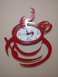 Laser Cut Coffee Wall Clock Free Vector