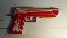 Laser Cut Wooden Rubber Band Gun Free Vector