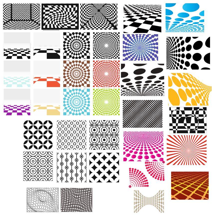 Decorative Geometric Patterns Free Vector