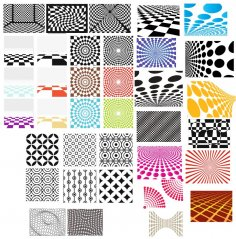 Decorative Geometric Patterns Free Vector