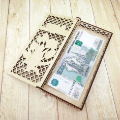 Laser Cut Currency Banknote Case Storage Box Free Vector