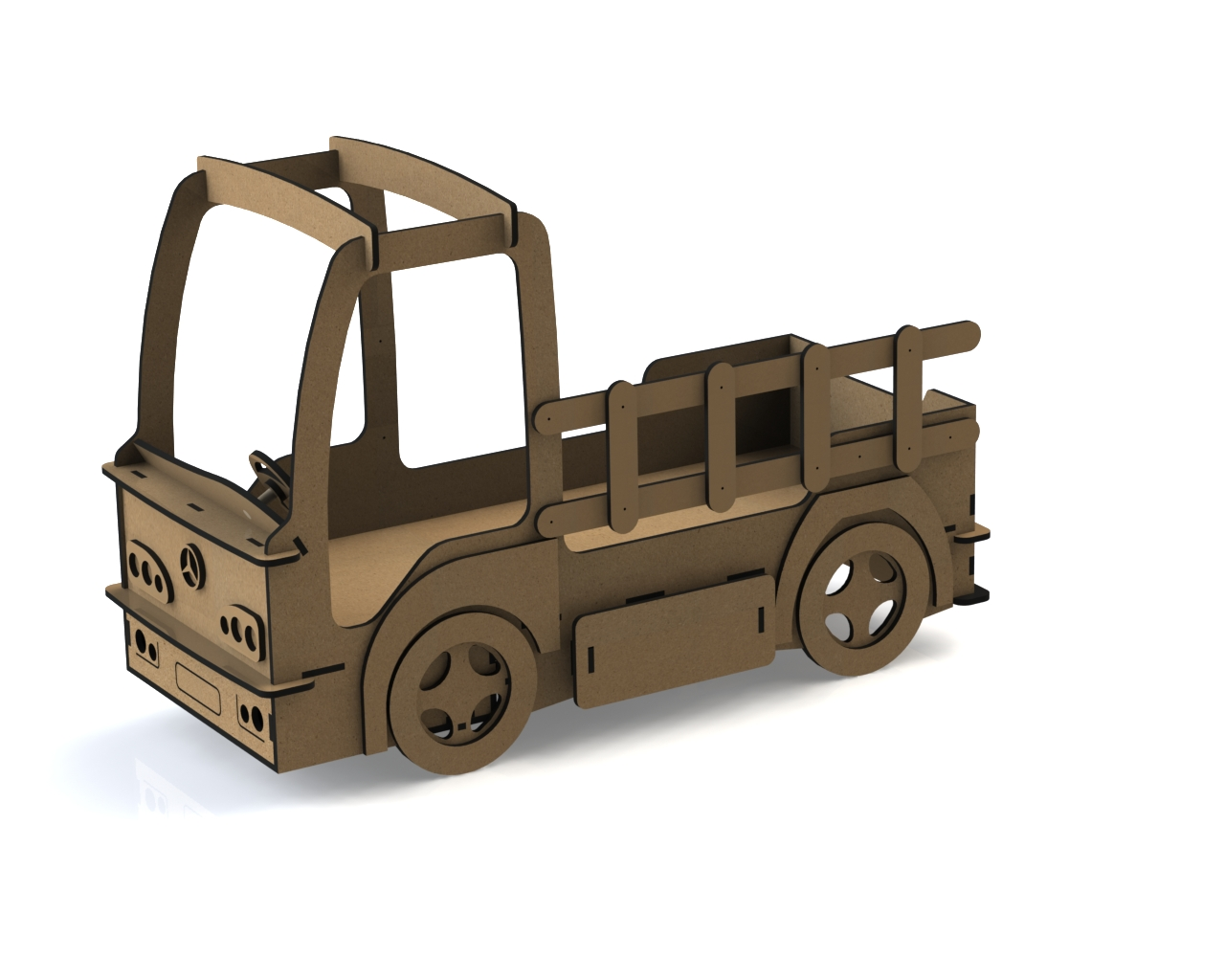Laser Cut DIY Car Shaped Beds For Toddlers Free Vector