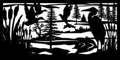 30 X 60 Herron Eagle Fish Ducks Plasma Metal Art DXF File
